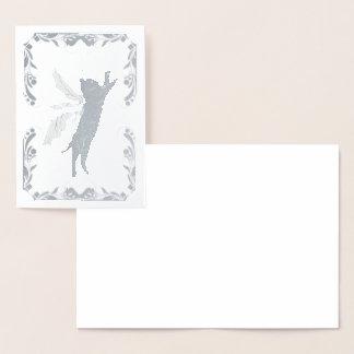Carte Dorée Pissenlit cosmique de chat