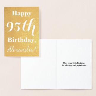 Carte Dorée Quatre-vingt-quinzième anniversaire de feuille
