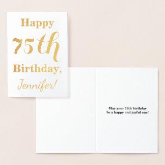 Carte Dorée Soixante-quinzième anniversaire de feuille d'or