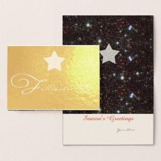 Carte Dorée Suivez qu'étoile de Noël