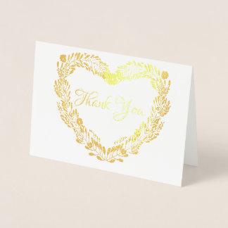 Carte Dorée Vrai épouser de Merci de guirlande de coeur de