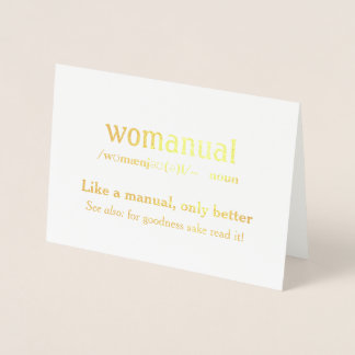 Carte Dorée Womanual - comme un manuel seulement meilleur !