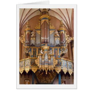Carte d'organe de cathédrale de Frombork