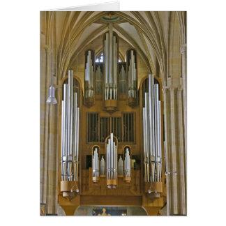 Carte d'organe de cathédrale d'Erfurt