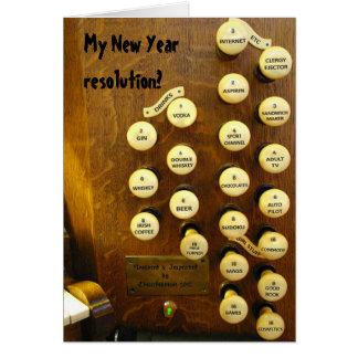 Carte d'organe de résolution de nouvelle année