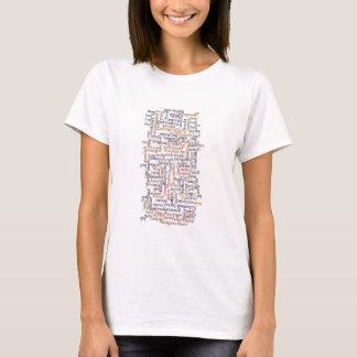 Carte dorique de mot t-shirt