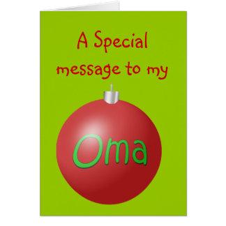 Carte d'ornement de Noël d'Oma