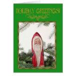 Carte d'ornement de Père Noël