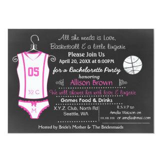 Carte Douche Bachelorette de lingerie de basket-ball de