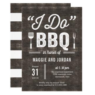Carte Douche de couples de BBQ ou dîner rustique de