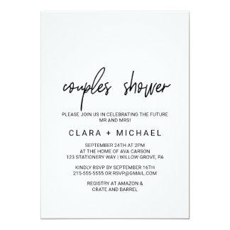 Carte Douche lunatique de couples de calligraphie