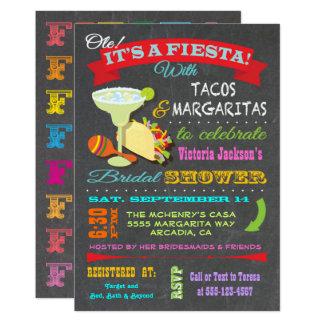 Carte Douche nuptiale de fiesta mexicaine de tableau
