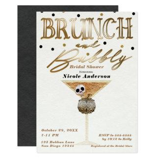 Carte Douche nuptiale de Halloween de brunch et d'or