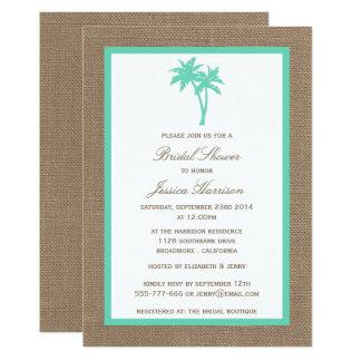 Carte Douche nuptiale de palmier de plage tropicale de