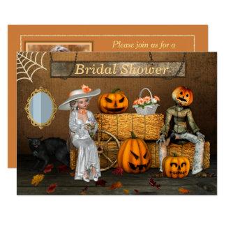 Carte Douche nuptiale de photo de mariage de Halloween