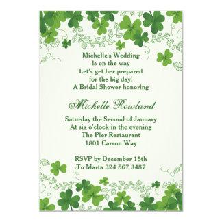 Carte Douche nuptiale de shamrock irlandais