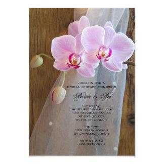 Carte Douche nuptiale d'orchidée de ranch rustique
