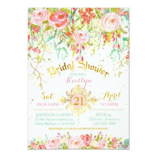 Carte Douche nuptiale enchantée par étincelle de jardin