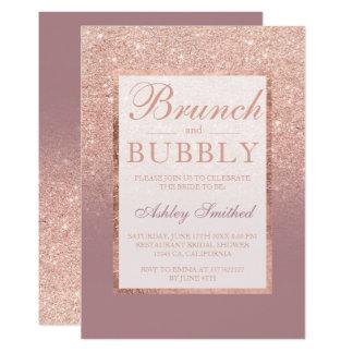 Carte Douche nuptiale pétillante de brunch rose