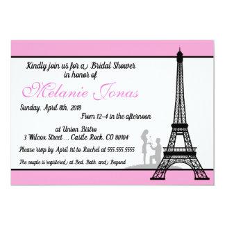 Carte Douche nuptiale rose de Paris