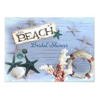 Carte douche nuptiale vintage de mariage de plage