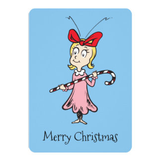 Carte Dr. Seuss | Cindy-Lou qui - tenir le sucre de