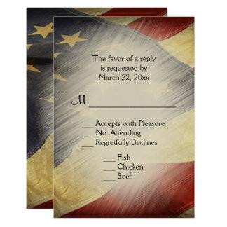 Carte Drapeau américain patriotique RSVP avec des choix