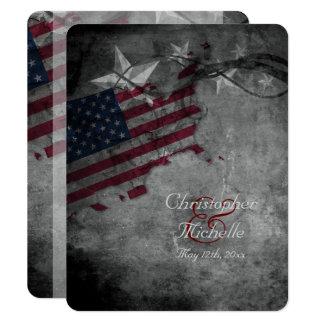Carte Drapeau patriotique des Etats-Unis avec le
