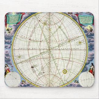 Carte dressant une carte le mouvement de la terre  tapis de souris