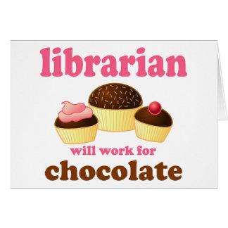 Carte drôle de bibliothécaire