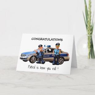 Personnalisé Officier De Police Carte Félicitations Nouveau Job promotion Carte
