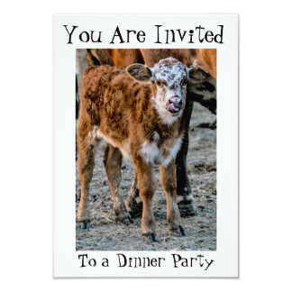Carte ~ drôle de ~ d'invitation de dîner humoristique