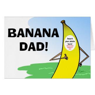 Carte drôle de fête des pères de banane, photo de
