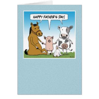 Carte drôle de fête des pères : Du troupeau
