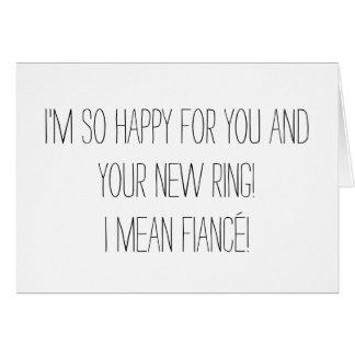 Carte drôle de fiançailles