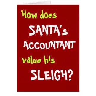Carte drôle de plaisanterie de Noël pour le