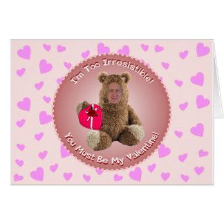 Carte drôle de Saint-Valentin : Ajouter-UN-Tête