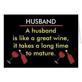 Carte drôle de vin de mari