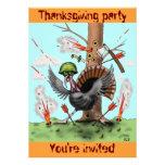 Carte drôle d'invitation de partie de thanksgiving
