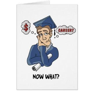 Carte drôle d'obtention du diplôme