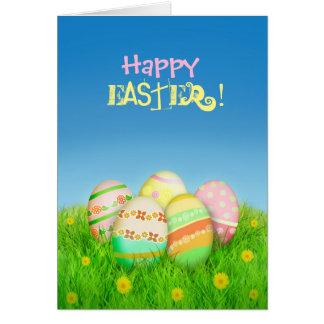 Carte drôle d'oeufs de Pâques