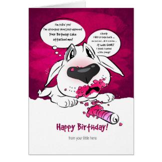 """Carte drôle """"joyeux anniversaire """" de bande"""