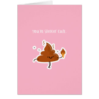 Carte drôle | Poo Stinkin de Saint-Valentin mignon