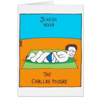 Carte drôle pour Rosh Hashanah - yoga juif