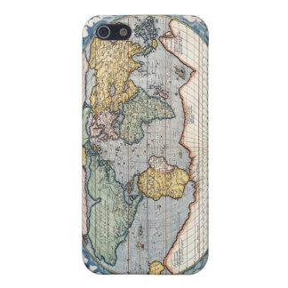 Carte du 16ème siècle antique du monde coques iPhone 5