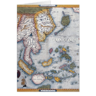 Carte du 16ème siècle d'Asie du Sud-Est et de