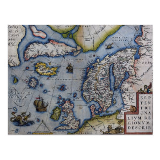 Carte du 16ème siècle de la Scandinavie