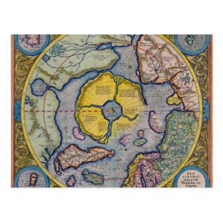 Carte du 16ème siècle de Pôle Nord de Mercator