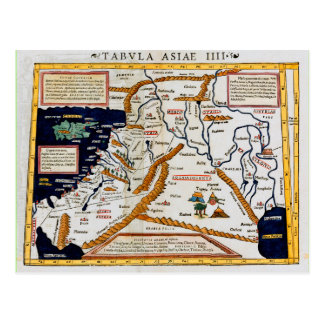 Carte du 16ème siècle vintage du Moyen-Orient
