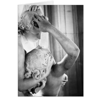 Carte du baiser du cupidon